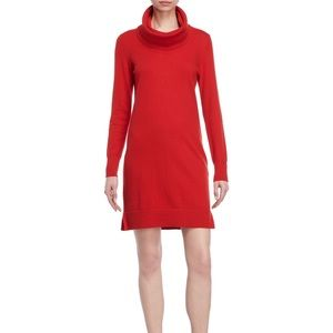 Donna Karan Collection Red Wool Sweater Dress